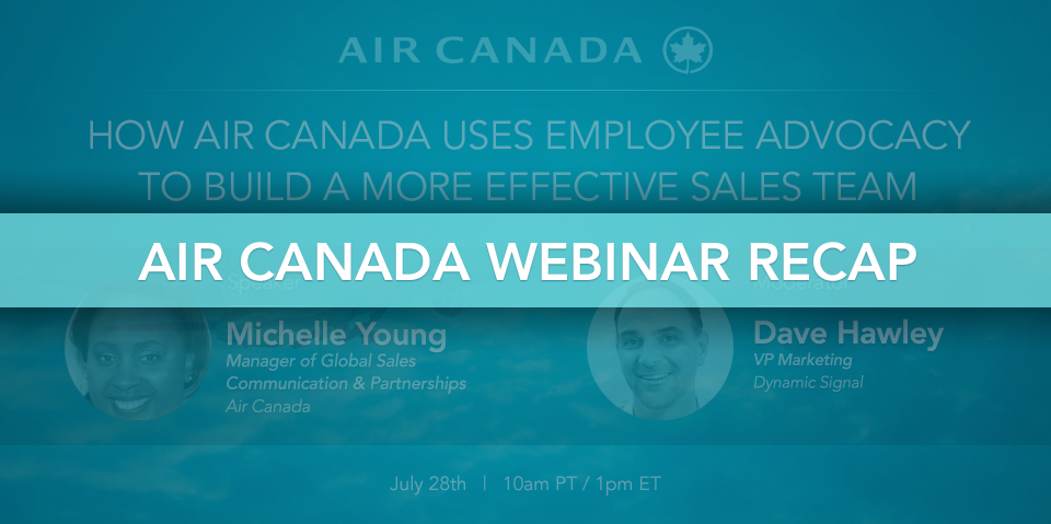 How Air Canada Transformed Their Brand Through Employee Advocacy