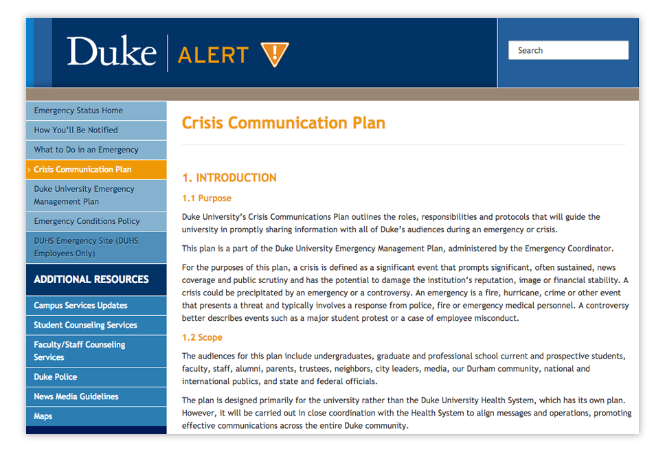 Company Communication Crisis Plan