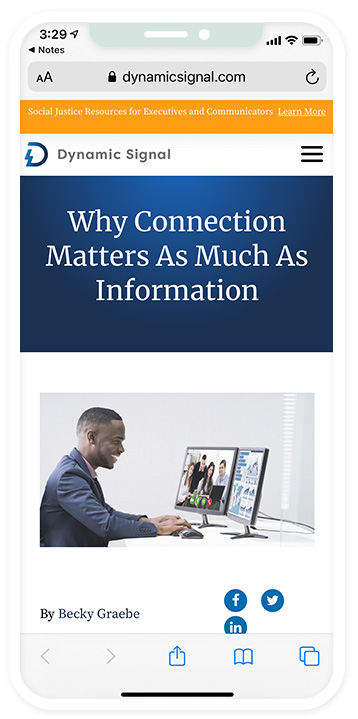 Why Connection Matters as Much as Information