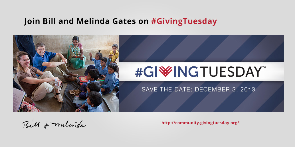 Join Bill and Melinda Gates on Giving Tuesday