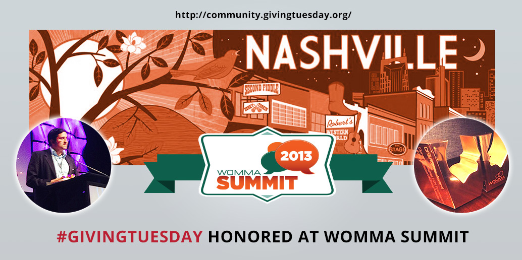 #GivingTuesday Honored at WOMMA Summit
