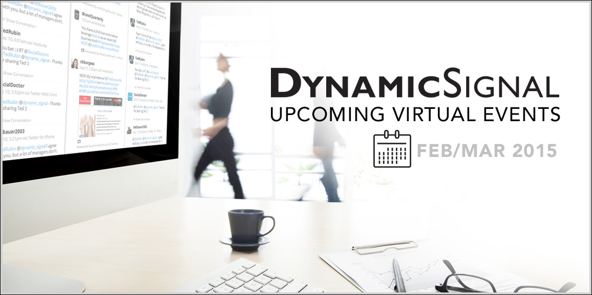 Upcoming Virtual Events on Employee Advocacy