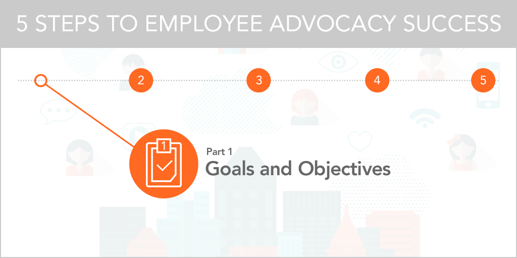 5 Steps to Employee Advocacy Success Goals and Objectives