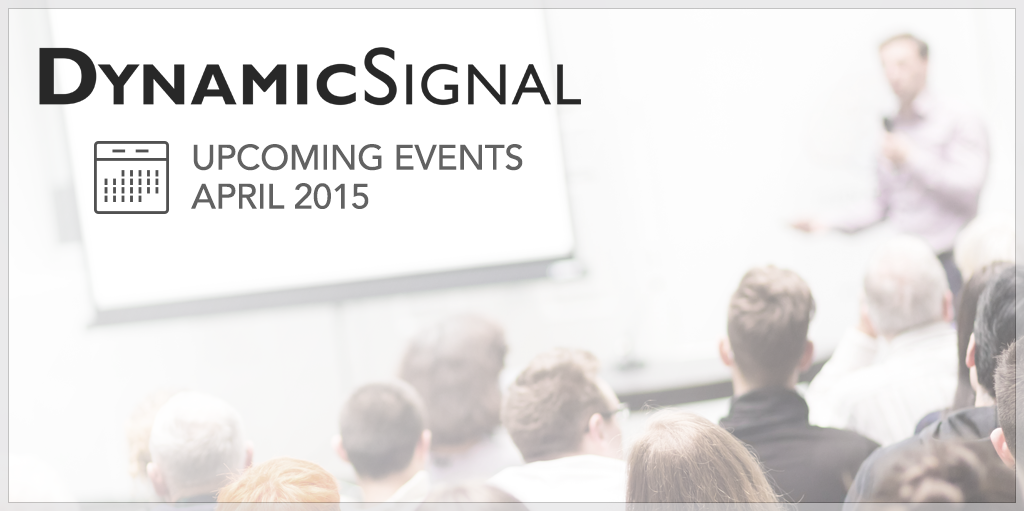 Dynamic Signal Upcoming Events in Employee Advocacy April 2015