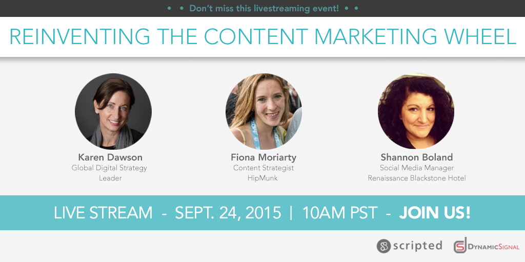 Upcoming Live Event: Reinventing the Content Marketing Wheel