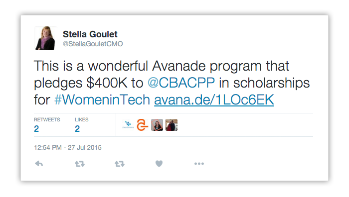 Avanade program pledges $400K to @CBACPP