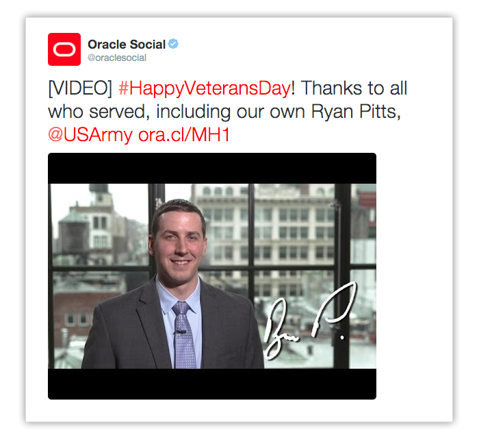 Oracle Highlights Employees on Veteran's Day