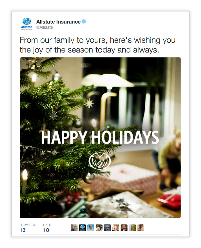 Allstate Holiday Tweet