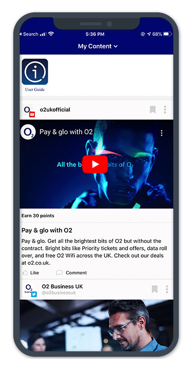 O2 Amp Mobile Employee App