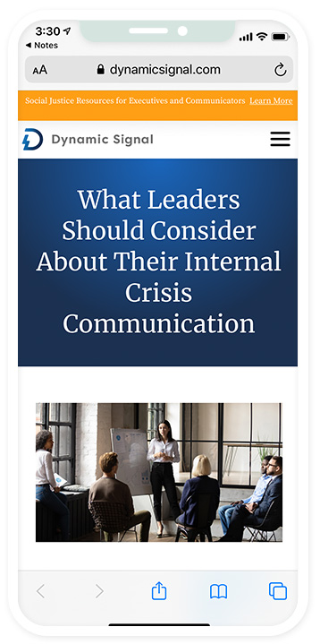 What Leaders Should Consider About Their Internal Crisis Communication