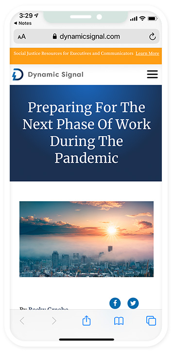 Preparing for The Next Phase of Work During the Pandemic